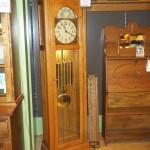 (W 1-8782) Light Wood Grandfather Clock
