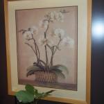 (W B2036) Framed Lily Print