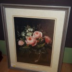 (W 052913-20) Floral Picture in Frame